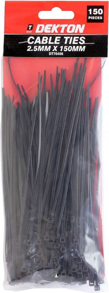 Cable Ties Black 2.55mmx150mm